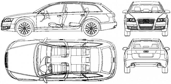 Coloriage et dessins gratuits Audi L'extérieur et L'intérieur à imprimer