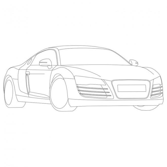 Coloriage et dessins gratuits Audi maternelle à imprimer