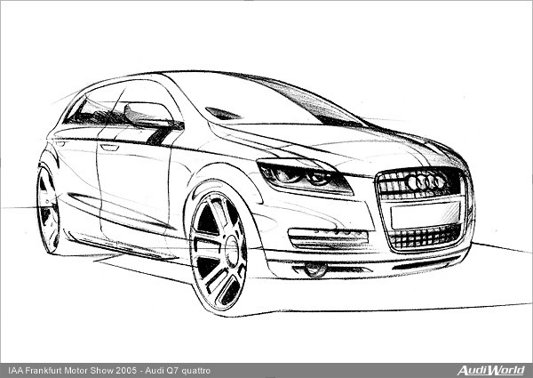 Coloriage et dessins gratuits Audi q7 en couleur à imprimer