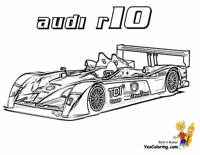 Coloriage et dessins gratuits Audi R10 de course à imprimer