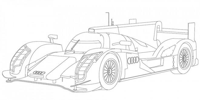 Coloriage et dessins gratuits Audi R10 stylisé à imprimer