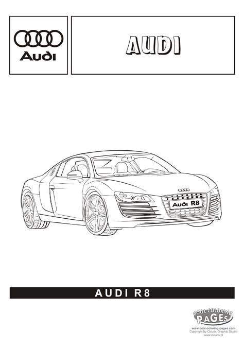 Coloriage et dessins gratuits Audi R8 à décorer à imprimer
