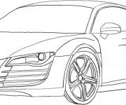 Coloriage et dessins gratuit Audi R8 à découper à imprimer