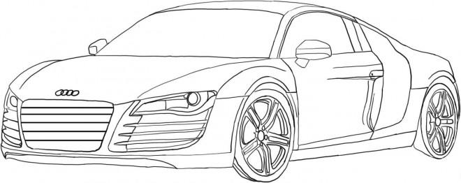 Coloriage et dessins gratuits Audi R8 à découper à imprimer