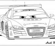 Coloriage et dessins gratuit Audi R8 de course à imprimer
