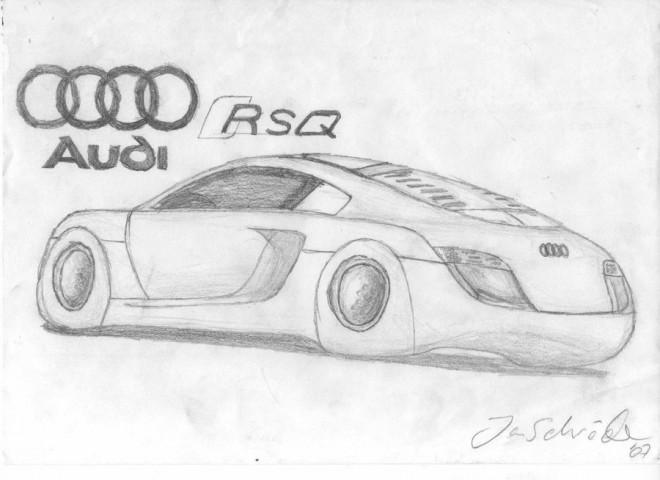 Coloriage et dessins gratuits Audi RSQ au crayon à imprimer