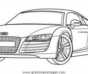 Coloriage et dessins gratuit Audi sport à imprimer