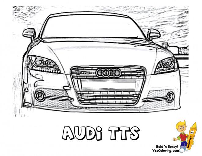 Coloriage et dessins gratuits Audi TTS à imprimer
