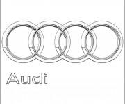 Coloriage et dessins gratuit Logo Audi à imprimer