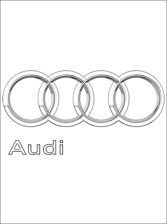 Coloriage et dessins gratuits Logo Audi à imprimer