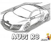 Coloriage et dessins gratuit Modèle Audi R8 à imprimer