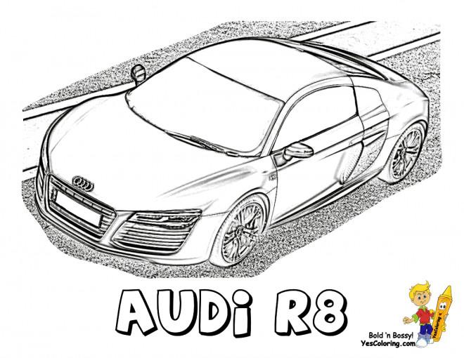 Coloriage et dessins gratuits Modèle Audi R8 à imprimer
