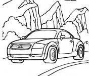 Coloriage et dessins gratuit Modèle de voiture Audi à imprimer
