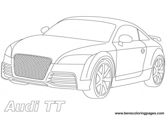 Coloriage mod le de voiture audi tt dessin gratuit imprimer - Modele dessin voiture ...