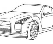 Coloriage et dessins gratuit Voiture Audi en couleur à imprimer