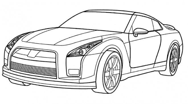 Coloriage Voiture Audi En Couleur Dessin Gratuit à Imprimer