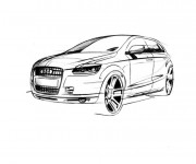 Coloriage et dessins gratuit Voiture Audi stylisé à imprimer