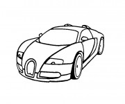 Coloriage et dessins gratuit Voiture Bugatti Veyron à imprimer