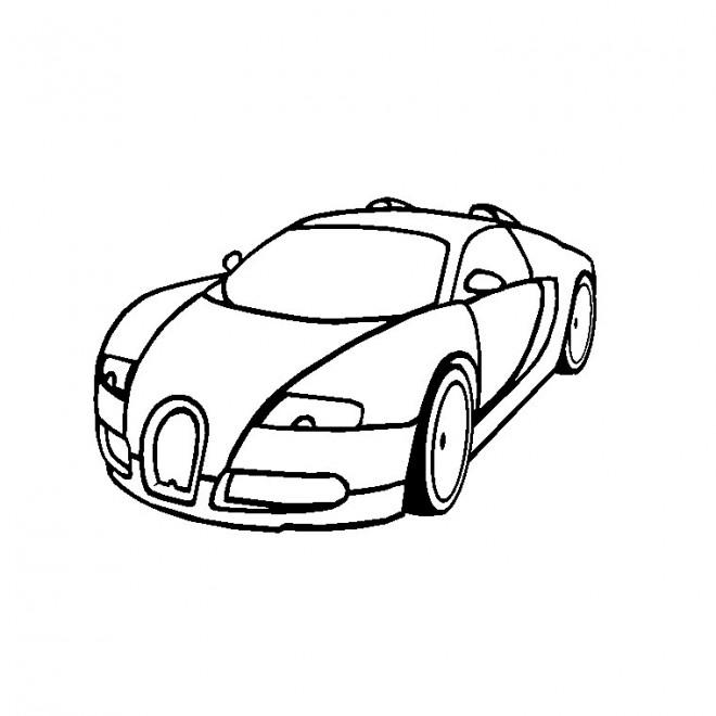 Coloriage et dessins gratuits Voiture Bugatti Veyron à imprimer
