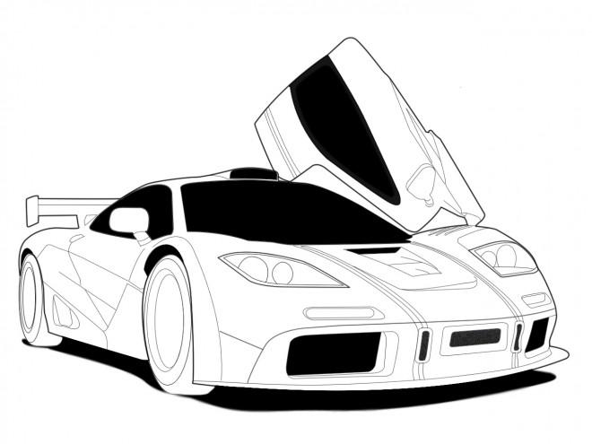 Coloriage auto de course 12 dessin gratuit imprimer - Dessiner voiture de course ...