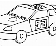 Coloriage Auto de course 2