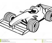 Coloriage Auto de course 22