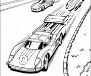 Coloriage Auto de course 29