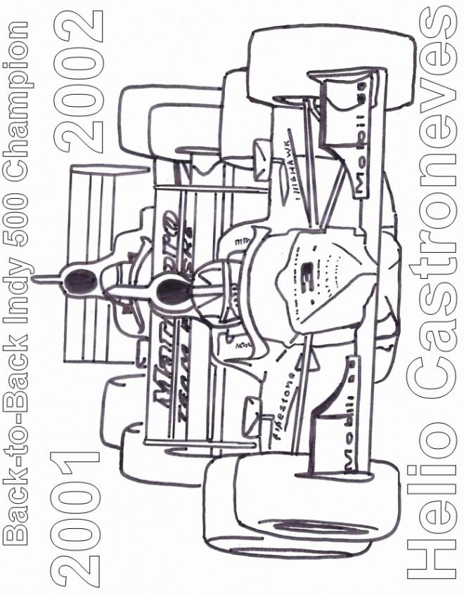 Coloriage et dessins gratuits Auto de course 34 à imprimer