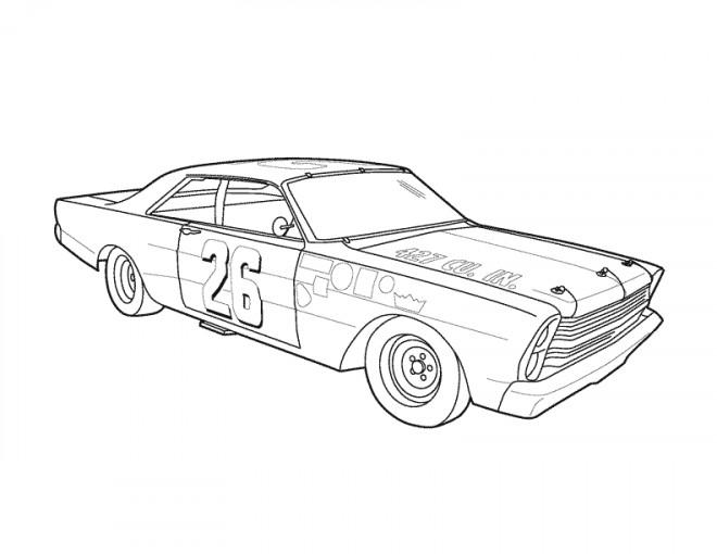 coloriage auto de course 5 dessin gratuit  u00e0 imprimer