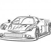 Coloriage Auto de course 7