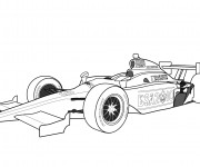 Coloriage Auto de course 9