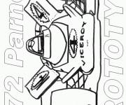 Coloriage et dessins gratuit Auto de course à découper à imprimer