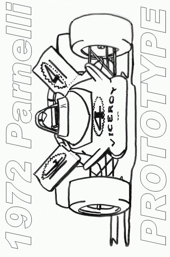 Coloriage et dessins gratuits Auto de course à découper à imprimer