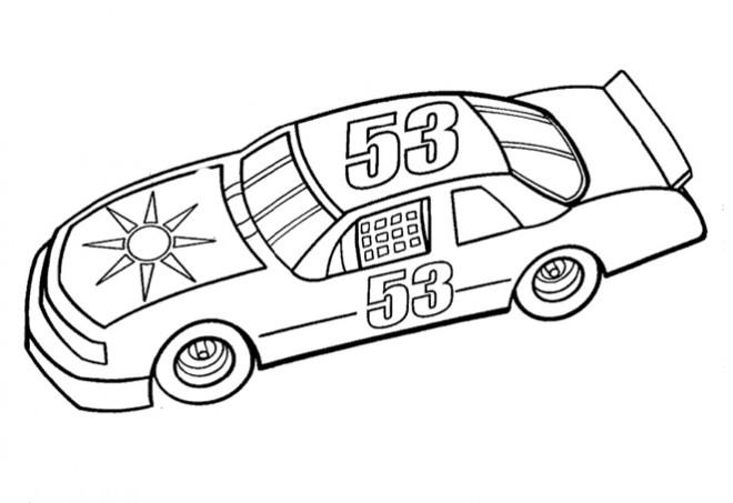 Coloriage et dessins gratuits Auto de course à télécharger à imprimer