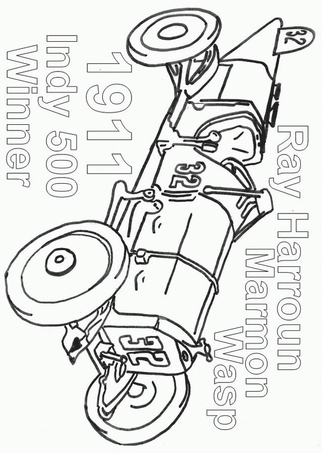 Coloriage et dessins gratuits Auto de course ancien à imprimer
