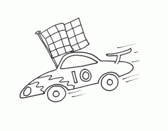 Coloriage et dessins gratuits Auto de course au crayon à imprimer