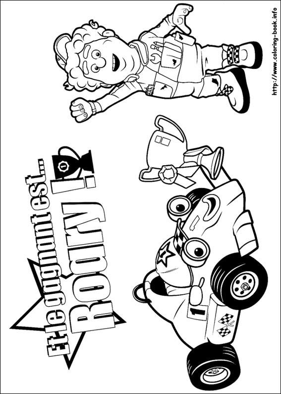 Coloriage et dessins gratuits Auto de course Bande dessinée à imprimer