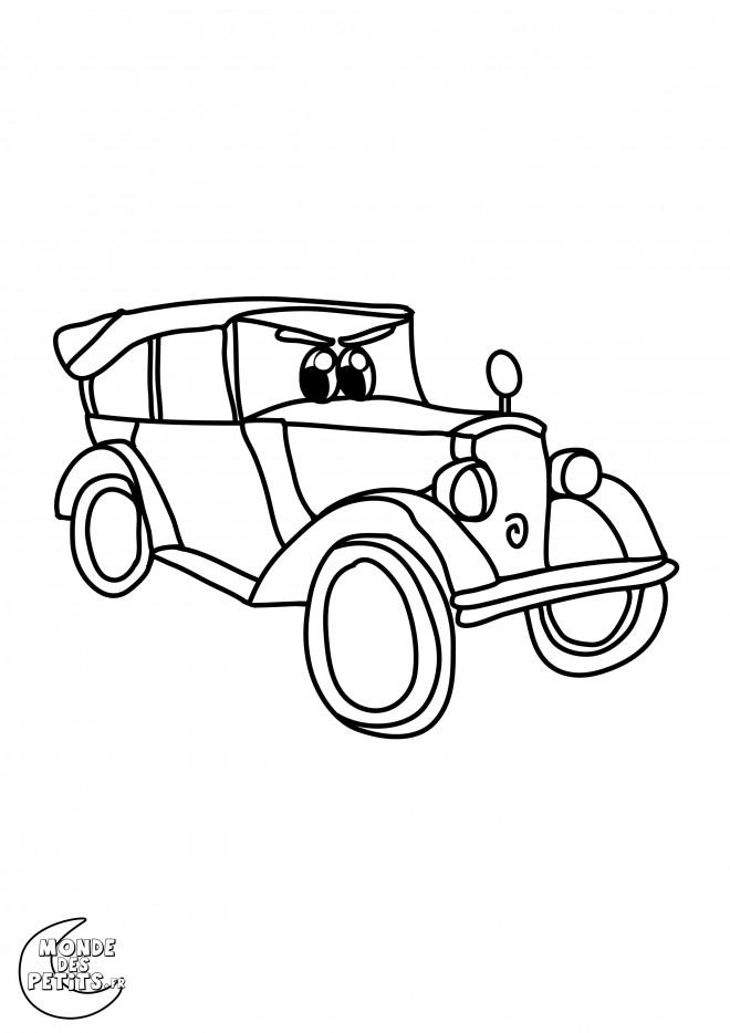 Coloriage et dessins gratuits Auto de course classique personnalisé à imprimer