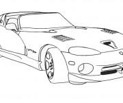 Coloriage et dessins gratuit Auto de course de Luxe à imprimer