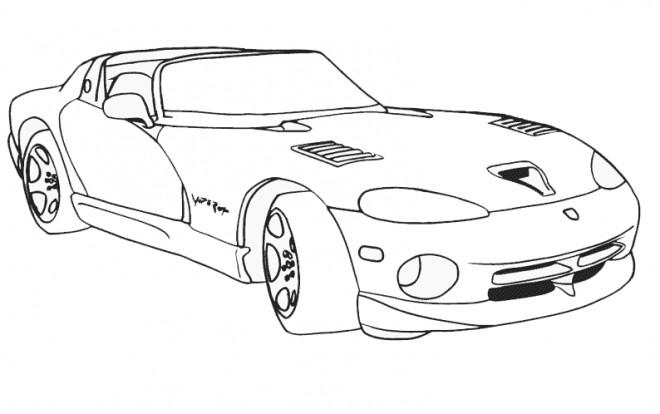 Coloriage et dessins gratuits Auto de course de Luxe à imprimer