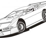 Coloriage et dessins gratuit Auto de course en couleur à imprimer