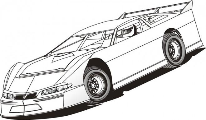 Coloriage et dessins gratuits Auto de course en couleur à imprimer