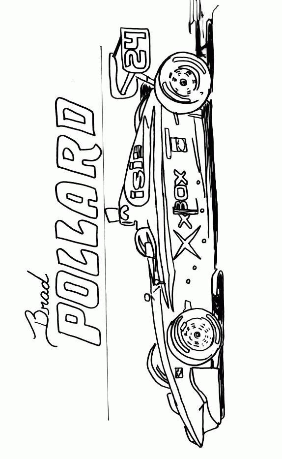 Coloriage et dessins gratuits Auto de course en Ligne à imprimer