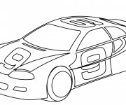 Coloriage Auto de course facile