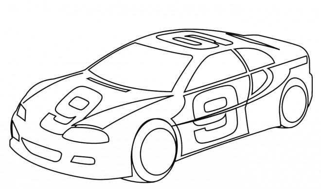 Coloriage et dessins gratuits Auto de course facile à imprimer