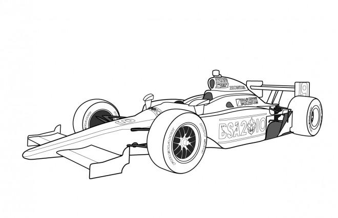 Coloriage et dessins gratuits Auto de course Formule un à imprimer