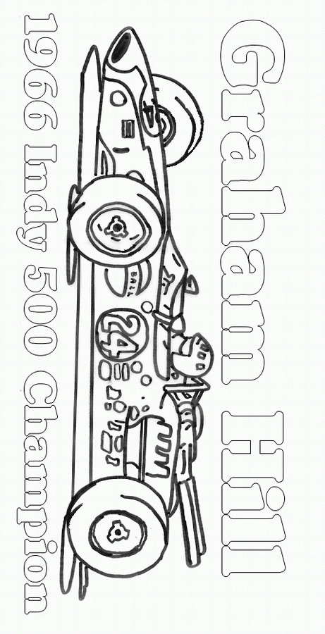 Coloriage et dessins gratuits Auto de course Indy à imprimer