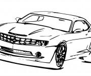 Coloriage et dessins gratuit Auto de course Magique à imprimer