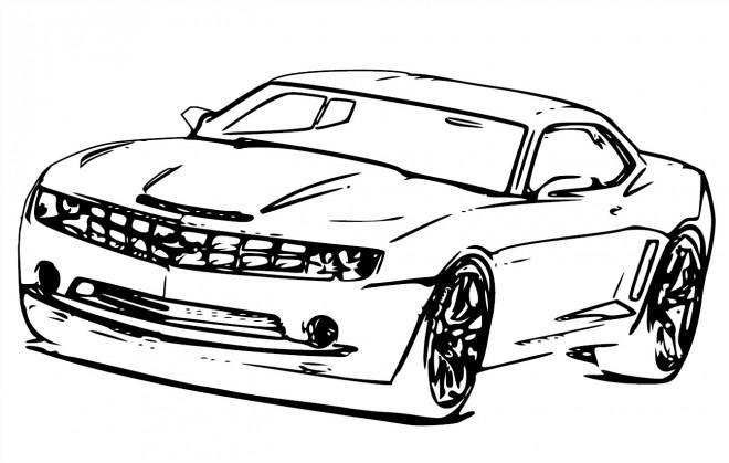 Coloriage et dessins gratuits Auto de course Magique à imprimer