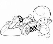 Coloriage et dessins gratuit Auto de course Mario Kart à imprimer